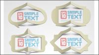 Creativa doblado texto hueco papel plantilla vector material -2