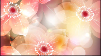 Fleurs magnifiques illustrateur vecteur mat��riel 02