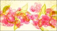 Colorful flowers background 01 - mat��riel vecteur
