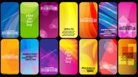 Die herrliche Halos card background 02 - Vektor Material