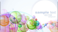 Colorful bubbles background 03 - vector material