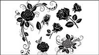 Pintados a mano material de las flores 02 - vector