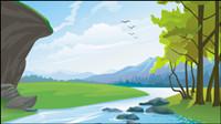 Hermosos paisajes 03 - vectoriales
