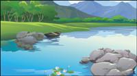 La beaut�� des paysages 02 - vecteur