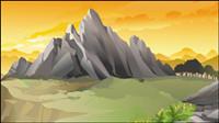 Belle paysages 01 - vecteur