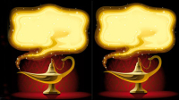 Cartoon Aladins Lampe - Vektor