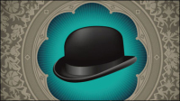 Gentleman Hut Hintergrund 02 - Vektor