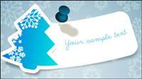 Noël flocon de neige - autocollants vecteur
