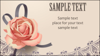 Vintage Roses Card text template vector material -2