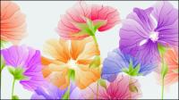 Exquisitas flores 03 - vector de material