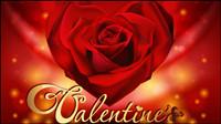Retro tarjetas de San Valent¨ªn 03 - vectoriales