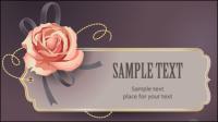 Vintage Roses Card texte mod��le vecteur mat��riel -3