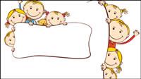 Historieta de la pintura los niños - vector de material