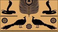Égyptienne textures totem 05 - Vecteur