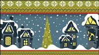 Noël de bande dessin��e illustrateur 05 - mat��riel vecteur