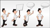 Personnages de dessins anim��s 02 - vectorielle