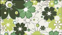Motifs floraux 01 - vecteur mat��riel