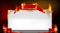 Llama de la quema efecto de papel 04 - vector de material