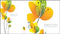 Schöne Blumen Vektor Material -2
