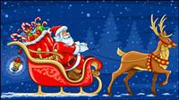 Hermosos elementos de la Navidad 01 - vector de material