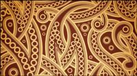 Europäische feine Muster Hintergrund 05 - Vektor Material