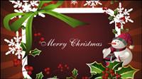 Die exquisite Weihnachten Grenze Hintergrund 03 - Vektor Material