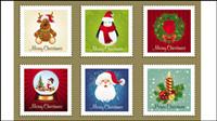 Die Christmas elements Stamp Vektor Material - 01
