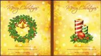 Hermosos elementos de la Navidad 05 - vector de material