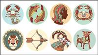 Las doce constelaciones patrones ilustrador - vector