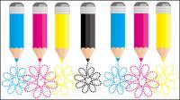 CMYK colores 07 - vector de material