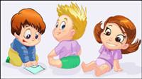 Los niños de dibujos animados 04 - vector