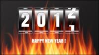 2012 WordArt fondo 01 - vector de material