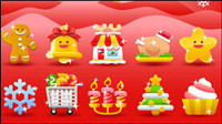 Navidad 01 Material fiesta - vector de material