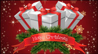 Gorgeous Christmas background 02 - vector material