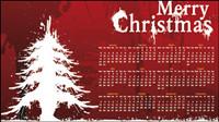 D¨ªa de Navidad fondo del calendario 01 - vector de material