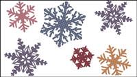 Snowflake Muster - Vektor Material