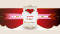 Beautifully romantic banner 03 - vector material