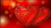 Schöne rote Herzen Hintergrund - Vektor-Material
