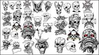 Avatar crâne terroriste 01 - mat��riel vecteur