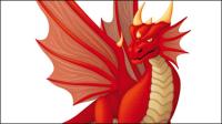 Bande dessin��e mignonne de dragon 02 - mat��riel vecteur