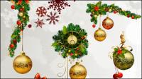 Él��ments d��coratifs de Noël 02 - mat��riel vecteur