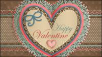 Saint-Valentin en forme de coeur tag 04 - mat��riel vecteur