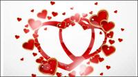 Saint-Valentin carte de voeux du jour 04 - mat��riel vecteur