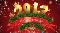 Wunderschöne Weihnachten Hintergrund 01 - Vektor Material