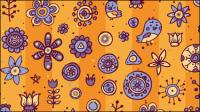 Cartoon-Muster Hintergrund 04 - Vektor Material