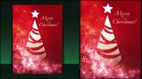 Schöne Weihnachten Flyer 01 - Vektor Material