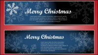 Christmas banner 02 - vector material
