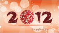 2012 Fuentes de Navidad 04 - vector de material