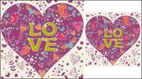Valentine illustrateur 05 - mat��riel vecteur
