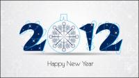 2012 Weihnachten Schriftarten 02 - Vektor Material